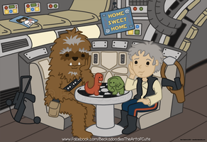 Old Chewie and Han by beckadoodles