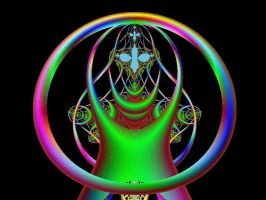 Circle Lady by fractalfantasyworlds