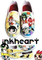 powerpuff girls custom shoes by felixartistixcouk