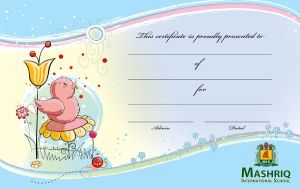Certificate for kids by Shaket