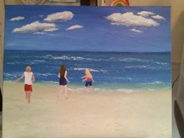 Work in Progress: Cousins at the beach by InspiredByYouArt