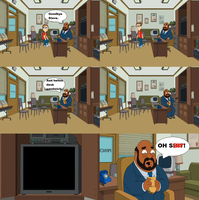 Principal Lewis Watches Meme by cartoonfanboyone