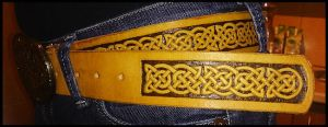 Belt with celtic design #2 by simoniculus