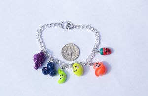 Fruit Charm Bracelet by Shelby-JoJewelry