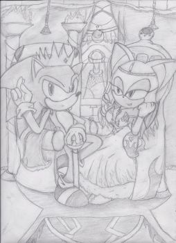 King Sonic and Queen Rouge by AquaticSun