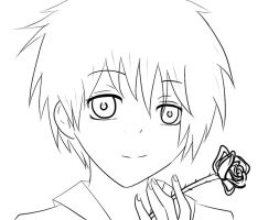 Sasori line art by SinfulHime