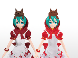 difference between these two Miku Hood by JackFrost-LCDA