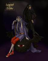 Dark Link and Vaati-- finished by Erulisse2