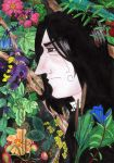 Snape With Flowers by Hugtand