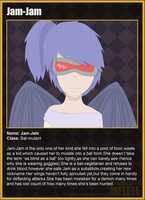 Jam-Jam character card by soppy4eva