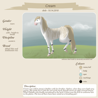Cream Reference Sheet by AmzyTheChangeling