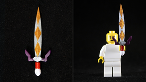 LEGO 3D Printed Painted Gilded Sword by mingles