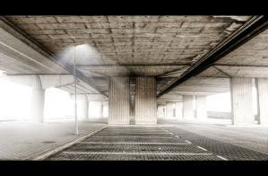 Cinematic parking lot HDR by kayintveen