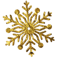 Snowflake Gold3 Kk by KKgraphicdesigner