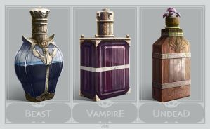 Werewolf, Vampire or Zombie Potion? by TantianaGoldenBanana