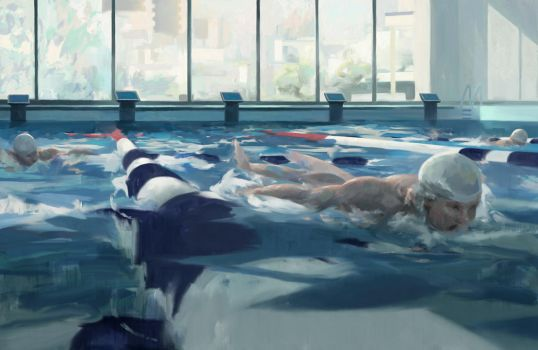 Swimmers by Juhupainting