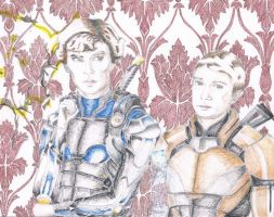 Let's Draw Sherlock x Mass Effect 3 MP Crossover by mythlover20