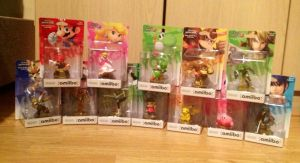 Amiibo Figure Characters by extraphotos