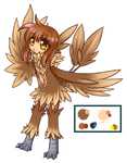 Oyo the Owl harpy by FrostLupus