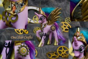 Steampunk Princess Celestia by bluepaws21
