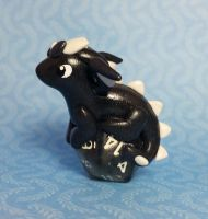 Baby Dice Dragon by prismaticpearls