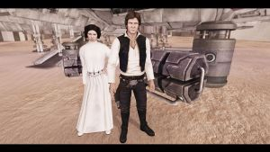 Han Solo and Leia Organa by CptRex