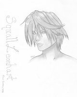 Squall CG close-up sketch by kittenangel116