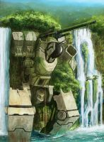 Mech Wreckage by Meteorskies