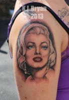 Monroe portrait tattoo by danktat