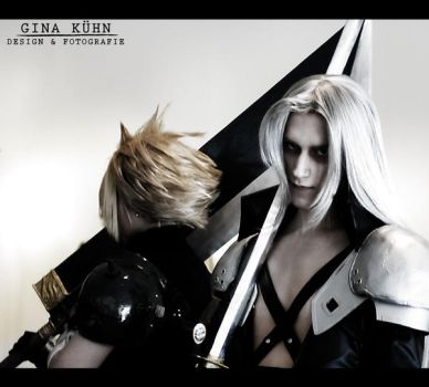 Cloud and Sephiroth by Videros