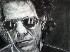 Lou Reed Behind Shades by Bowiemaniac