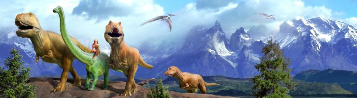 The Good Dinosaur - Journeying with Friends by jesus-at-art