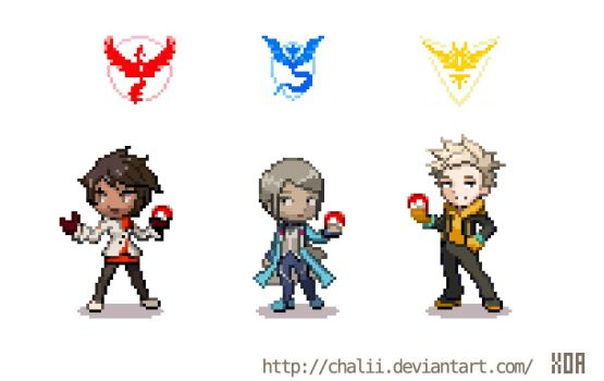 Pokemon Go team leaders by chalii