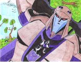 Blitzwing and penguins of Mada by ailgara