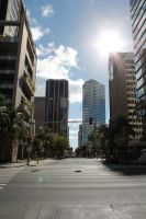 Downtown Honolulu by ActCat808