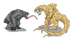 AT- Bunyip vs. Carcinodon by Scatha-the-Worm