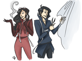 Stylists Asami and Tahno by LilyScribbles