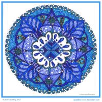 Red eh Blue Shape Collab with periwinklepaisley by Quaddles-Roost