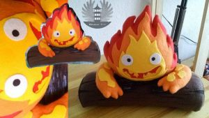 Calcifer plush Howl's moving castle Ghibli by ArtesaniasIris