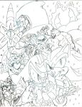 Sonic Universe Shadow Fall  pencil by trunks24