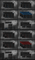 Maxtri Dark Blue and Red Theme Win10 Anniversary by Cleodesktop