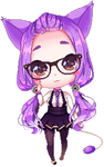 Delcatty Gijinka (Animated) by MintyBunns