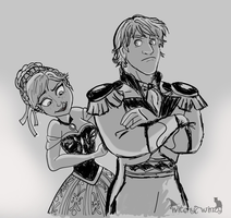 Kristoff And Anna - Prince Getup by WitchyTwinzy