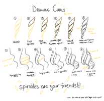 drawing curls by okyi