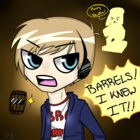 PewDiePie:BARRELS!!!! by IamMonday78