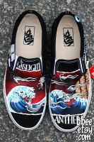 Gaslight Anthem Shoes by BBEEshoes