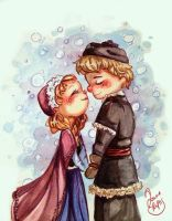 Anna and Kristoff by rue789