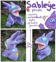 Sableye Plush by SilkenCat
