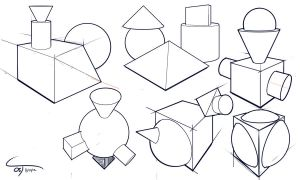 Day 5: 5 Simple Shapes (Sketch Blog) by ComplxDesign