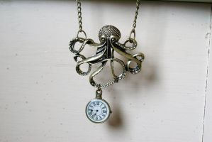 Steampunk Octopus Necklace by MonsterBrandCrafts
